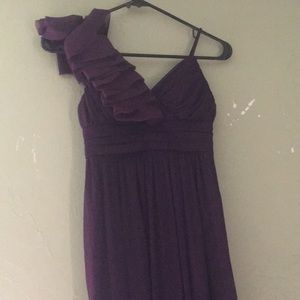 Purple Bridesmaids dresses Sizes two and four